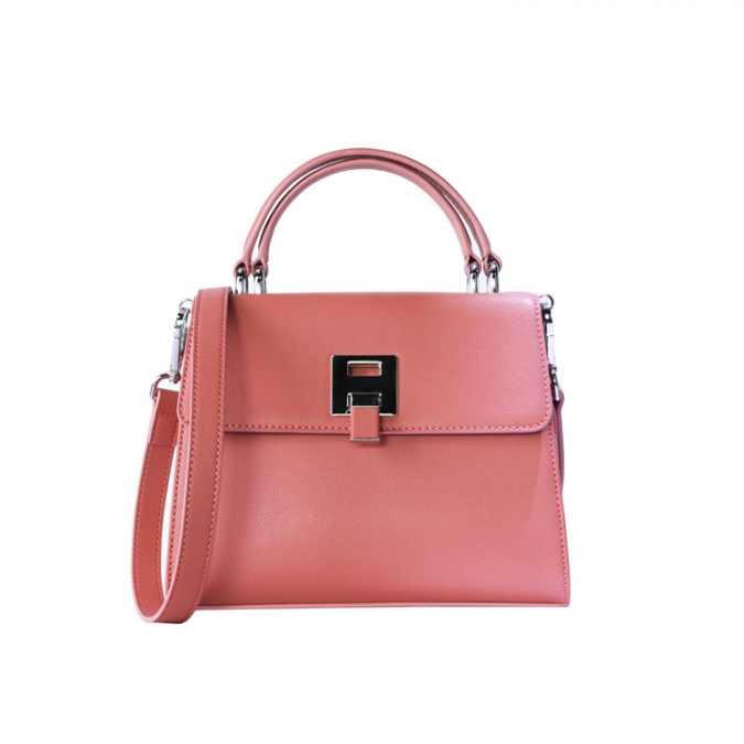 Pink Women's Genuine Leather Shoulder Bags